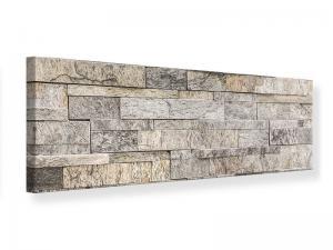 Ljudabsorberande panorama tavla - Elegant Stone Wall - SilentSwede