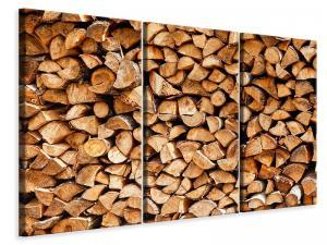Ljuddämpande tavla - Stacked Wood - SilentSwede