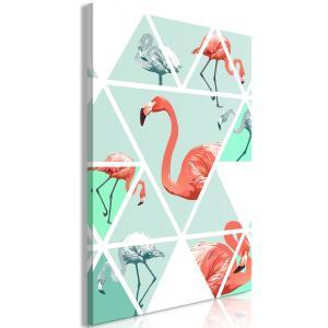 Ljuddämpande tavla - Geometric Flamingos - SilentSwede