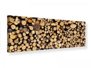 Ljudabsorberande panorama tavla - Firewood - SilentSwede