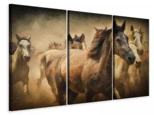 Ljuddämpande tavla - Painting wild horses - SilentSwede