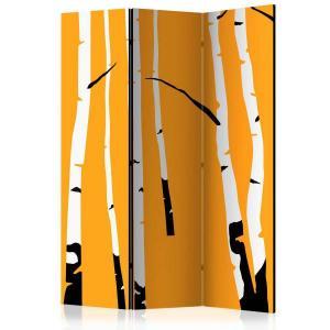 Rumsavdelare - Birches on the orange background - SilentSwede