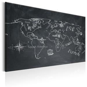Ljuddämpande & ljudabsorberande tavla - World Map: Travel broadens the Mind - SilentSwede