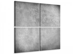 Ljudabsorberande 4 delad tavla - Gray Wall Shades - SilentSwede
