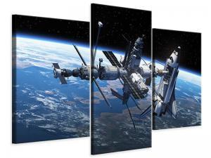 Ljudabsorberande modern 3 delad tavla - Satellite - SilentSwede