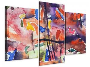 Ljudabsorberande 3 delad tavla-Watercolor - SilentSwede