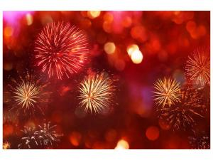 Ljudabsorberande tavla-Colorful Fireworks - SilentSwede