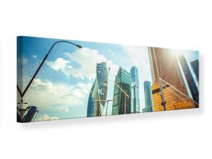 Ljudabsorberande panorama tavla - Skyscrapers Moscow - SilentSwede