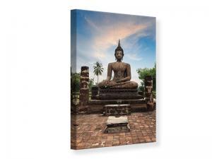 Ljudabsorberande tavla-Buddha Statue at Dusk - SilentSwede
