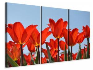 Ljuddämpande tavla - Red tulips xl - SilentSwede