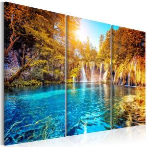 Ljuddämpande tavla - Waterfalls of Sunny Forest - SilentSwede