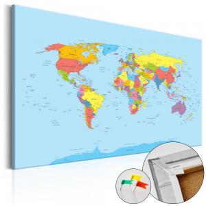Ljuddämpande anslagstavla - Rainbow Geography - SilentSwede