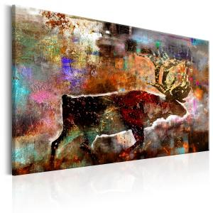 Ljuddämpande tavla - Colourful Caribou - SilentSwede