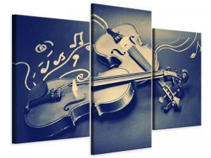 Ljudabsorberande modern 3 delad tavla - Violins - SilentSwede