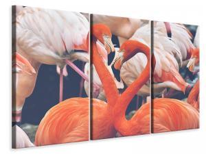 Ljuddämpande tavla - Colorful flamingos - SilentSwede