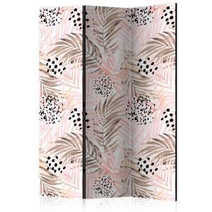 Rumsavdelare - Pink Palm Leaves - SilentSwede
