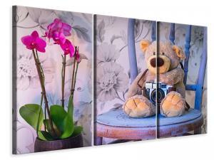 Ljuddämpande tavla - Camera teddy bear - SilentSwede
