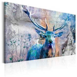 Ljuddämpande & ljudabsorberande tavla - Blue Deer - SilentSwede