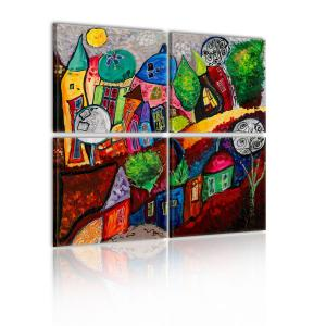 Ljuddämpande tavla - Colourful city - SilentSwede