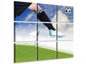 Ljudabsorberande 9 delad tavla - Football Kicker - SilentSwede