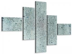 Ljudabsorberande modern 5 delad tavla - Concrete Gray - SilentSwede