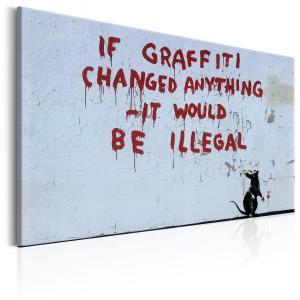 Ljuddämpande & ljudabsorberande tavla - If Graffiti Changed Anything by Banksy - SilentSwede