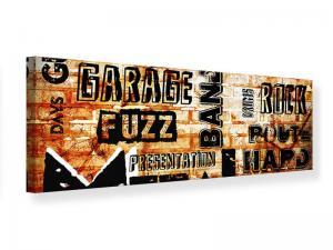 Ljudabsorberande panorama tavla - Rock In Grunge Style - SilentSwede