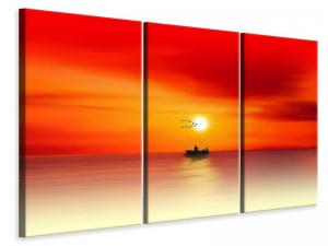 Ljuddämpande tavla - A fisherman in the sunset - SilentSwede