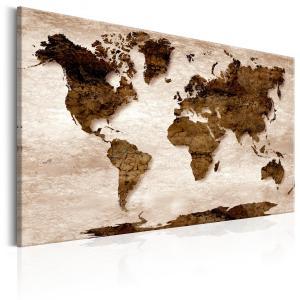 Ljuddämpande tavla - World Map: The Brown Earth - SilentSwede