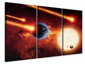 Ljudabsorberande 3 delad tavla - The Cosmos - SilentSwede