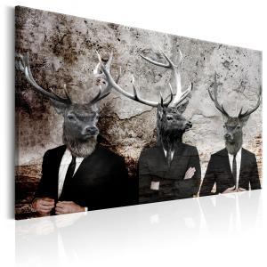 Ljuddämpande & ljudabsorberande tavla - Deer in Suits - SilentSwede