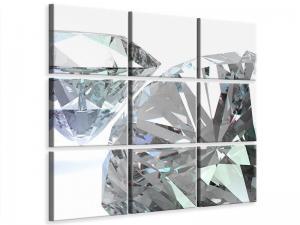 Ljudabsorberande 9 delad tavla - XXL Diamond - SilentSwede