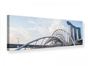 Ljudabsorberande panorama tavla - Helix Bridge - SilentSwede
