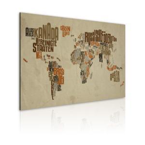 Ljuddämpande & ljudabsorberande tavla - Karta över världen - SilentSwede