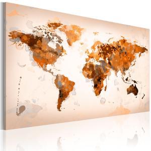 Ljuddämpande & ljudabsorberande tavla - Map of the World - Desert storm - SilentSwede