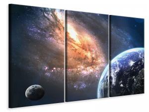 Ljudabsorberande 3 delad tavla - Universus - SilentSwede