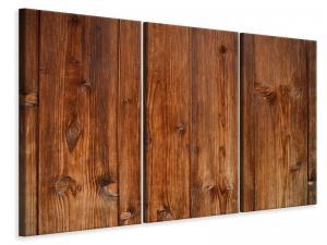 Ljuddämpande tavla - Wooden wall texture - SilentSwede