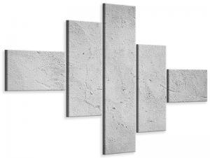 Ljudabsorberande modern 5 delad tavla - Concrete - SilentSwede