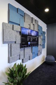 ljudabsorbent till vägg, oklädd yta, nivå