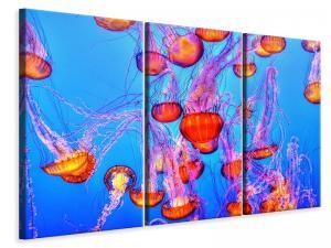 Ljuddämpande tavla - Colorful jellyfish - SilentSwede