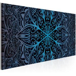 Ljuddämpande & ljudabsorberande tavla - Feathers Blue - SilentSwede