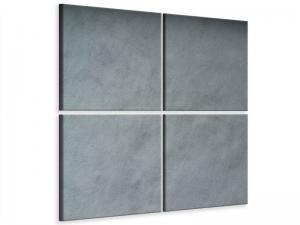 Ljudabsorberande 4 delad tavla - Dark Gray Wall - SilentSwede