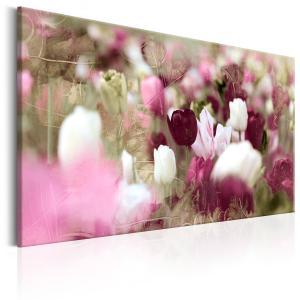 Ljuddämpande & ljudabsorberande tavla - Meadow of Tulips - SilentSwede