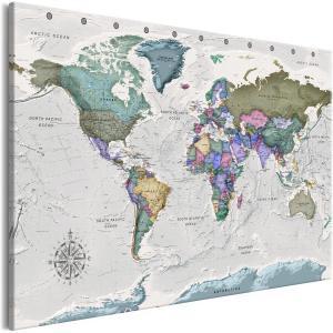 Ljuddämpande & ljudabsorberande tavla - World Destinations - SilentSwede