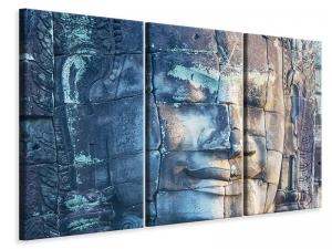 Ljudabsorberande 3 delad tavla-Buddha in Rock - SilentSwede