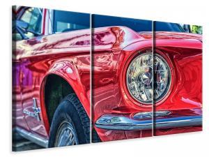 Ljuddämpande tavla - Red vintage car - SilentSwede