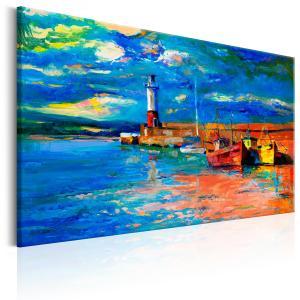 Ljuddämpande & ljudabsorberande tavla - Seaside Landscape: The Lighthouse - SilentSwede