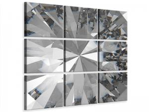 Ljudabsorberande 9 delad tavla - Giant Diamond - SilentSwede