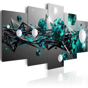 Ljuddämpande tavla - Turquoise Solar System - SilentSwede