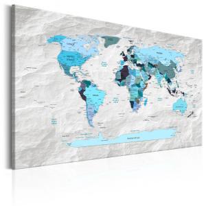 Ljuddämpande tavla - World Map: Blue Pilgrimages - SilentSwede